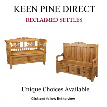 Advert: Keen Pine Direct Reclaimed Settles