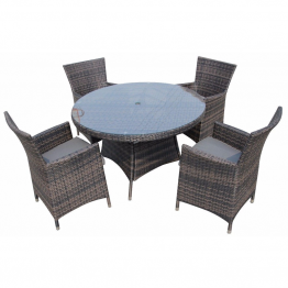 Rattan 4 Seat Table set