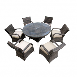 Rattan 6 Seat Table set