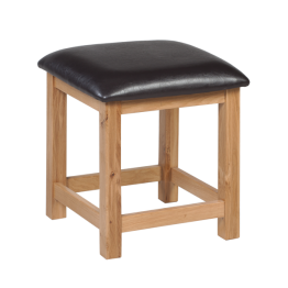 Warwick Bedroom Oak Dressing Stool