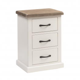 York Painted Bedroom Bedside  3 drawer - Standard