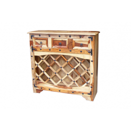 Indian Wine Rack 3 Drawers