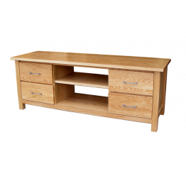 MX Oak 4 Drawer Entertainment Unit